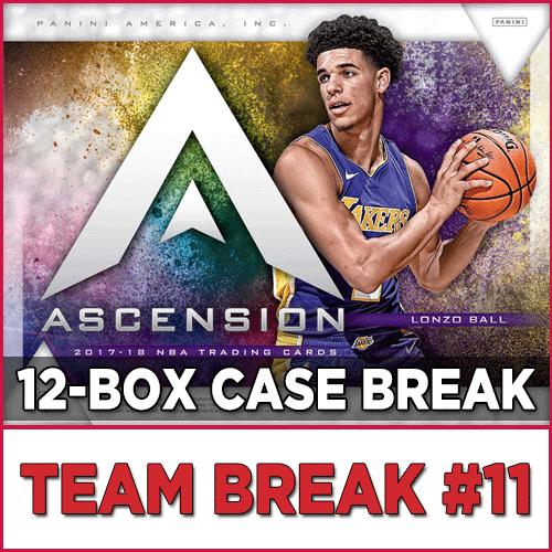 eb8b058c7d7 2017-18 Panini Ascension Basketball (Choose Team - Case Break  11)  Basketball