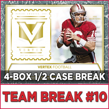 2017 Panini Vertex Football (Choose Team - 4-box Half Case #10) Football