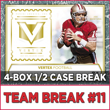 2017 Panini Vertex Football (Choose Team - 4-box Half Case #11) Football