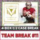 2017 Panini Vertex Football (Choose Team - 4-box Half Case #11) Football