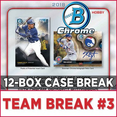 2018 Bowman Chrome Baseball Hobby (Choose Team - Case Break #3) Baseball