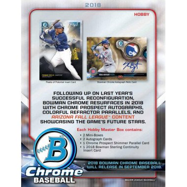 2018 Bowman Chrome Baseball HOBBY FACTORY SEALED 12-Box Case Random Team