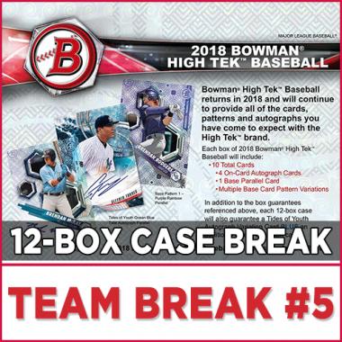 2018 Bowman High Tek Baseball (Choose Team - Case Break #5) Baseball