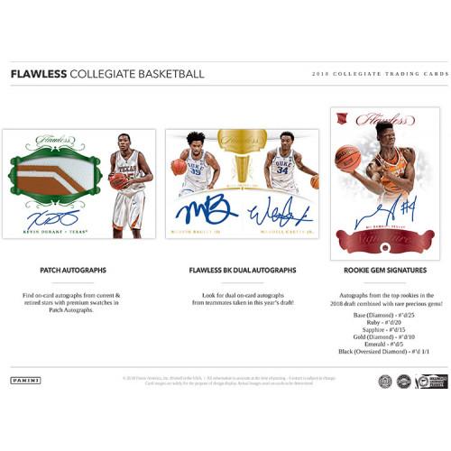 2018 Panini Flawless Collegiate Basketball (Hit Draft - Box