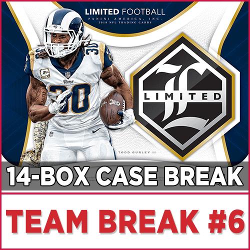 3adace099873 2018 Panini Limited Football (Choose Team - Case Break  6) Football