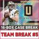 2018 Panini Unparalleled Football (Choose Team - 16-box Case break #5) Football