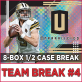2018 Panini Unparalleled Football (Choose Team - 8-box Case break #4) Football
