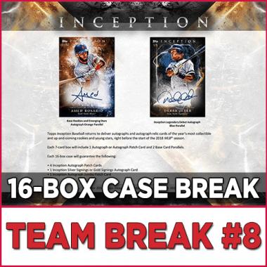2018 Topps Inception Baseball (Choose Team - Case Break #8) Baseball