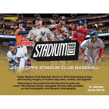 2018 Topps Stadium Club Baseball PERSONAL BOX Baseball