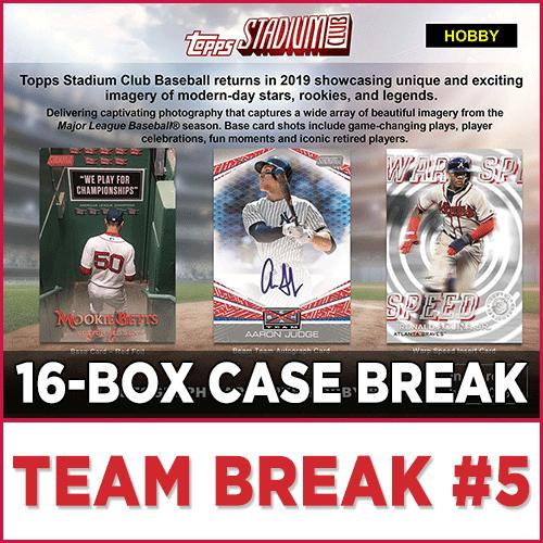 2019 Topps Stadium Club Baseball Choose Team Case Break
