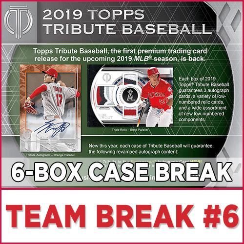 2019 Topps Tribute Baseball Choose Team Case Break 6